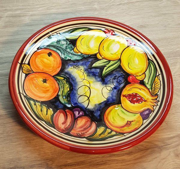Plato de cerámica frutas