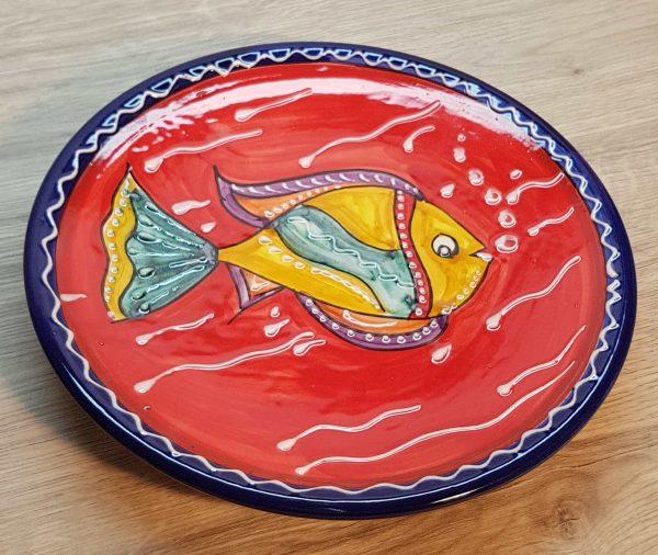 Plato cerámica modelo pez
