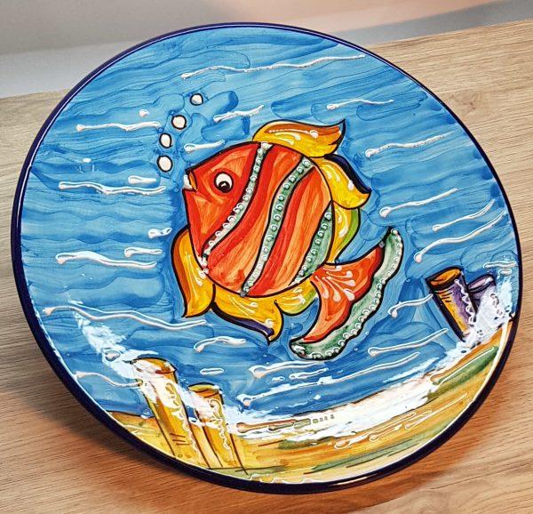Plato de cerámica Pez