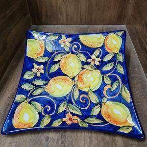 Plato Decoración Limón Azul